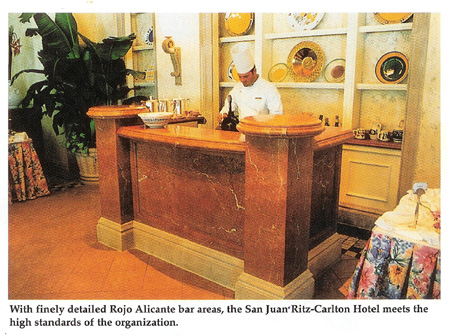 San Juan Ritz-Carlton Hotel  marble provided by RKW International Inc.